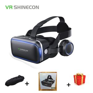 Casque Stereo Shinecon VR Box Virtual Reality Glasses 3 D 3d Goggles For Smartphone