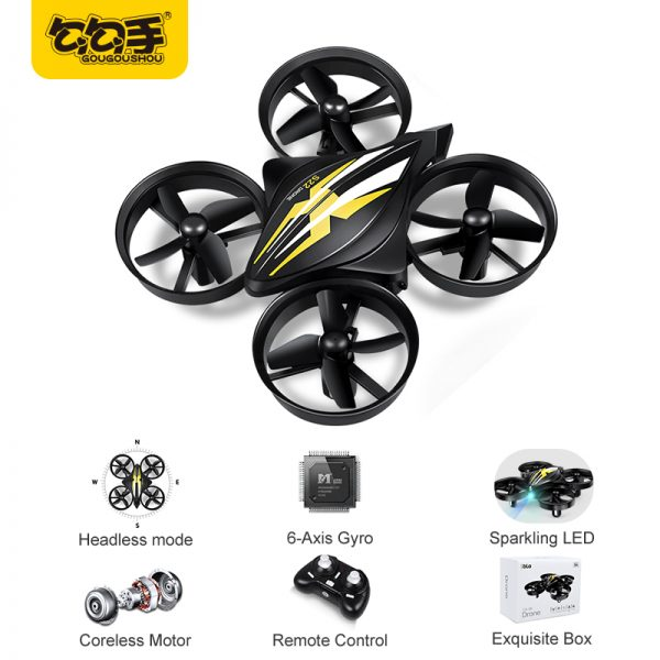 GouGouShou CX-95 Mini Drone RC Drone Quadcopters Headless Mode One Key Return RC Helicopter VS JJRC H36 Kids Best Toys For Boys